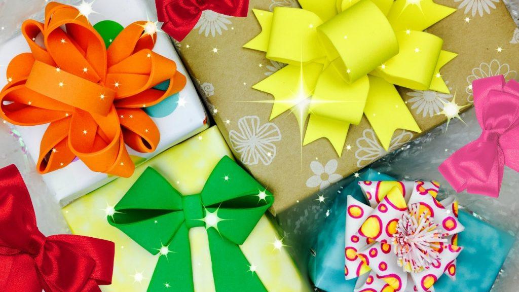 lazos para regalos con cinta de tela